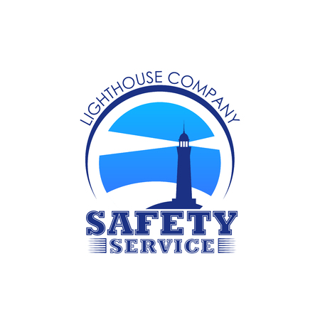 Vector lighthouse icon for safety marine service