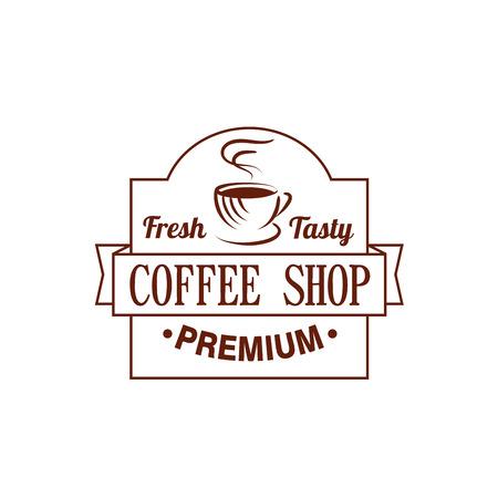 コーヒー ショップのコーヒー カップ蒸気のアイコンをベクトル