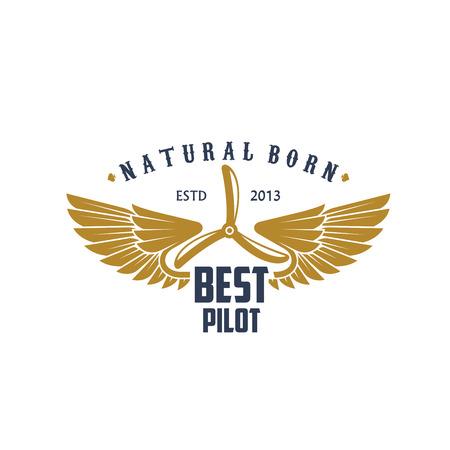 Vector airplane propeller icon for best pilot Illustration
