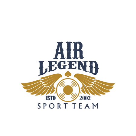 Aviaton sport air legend vector propeller icon