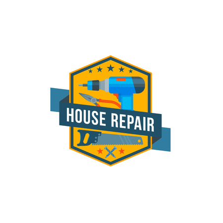 Work tools vector icon of home repair construction Illustration