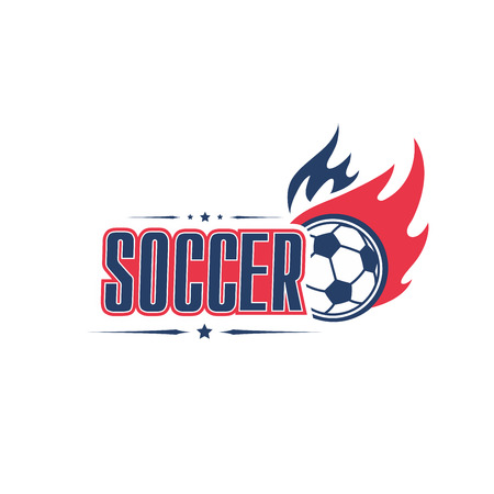 Soccer ball fire vector football team club icon Stock Vector - 82308515