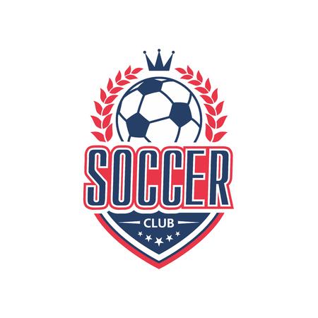 Soccer club team vector football ball icon