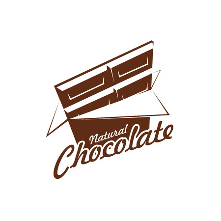 Vector chocolate bar pack icon for cafe Illustration