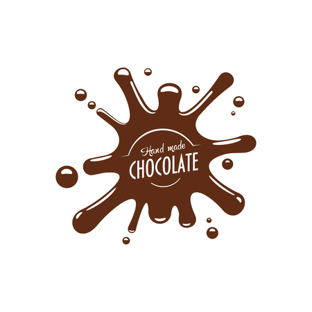 Vector Chocolate splash fonduta Icona Archivio Fotografico - 82150365