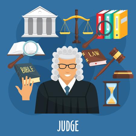 裁判官の専門職の擁護ベクトル ポスター 写真素材 - 82105141