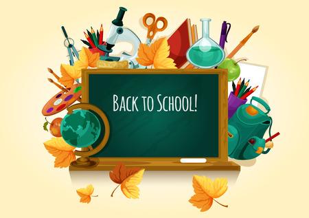 Back to school. Chalked text on blackboard Zdjęcie Seryjne - 82105073