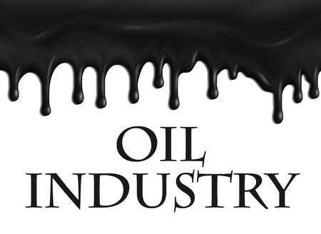 Vector poster for oil and gas industry