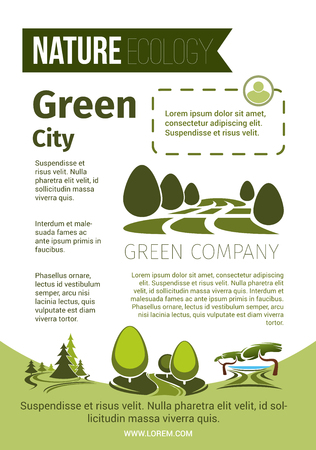 Green nature and eco environment poster