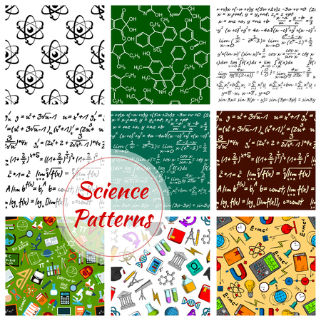 Seamless pattern of science and knowledge