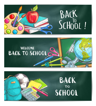Back to school welcome banner backgrounds