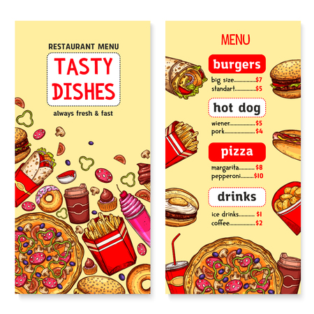 A Vector banners for fast food restaurant menu illustration.