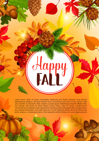 Autumn season and Thanksgiving Day banner design