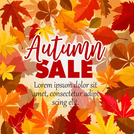 葉の秋の販売ベクトル ポスター