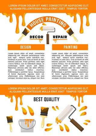 Bannersjabloon huisreparatie en schilderservice