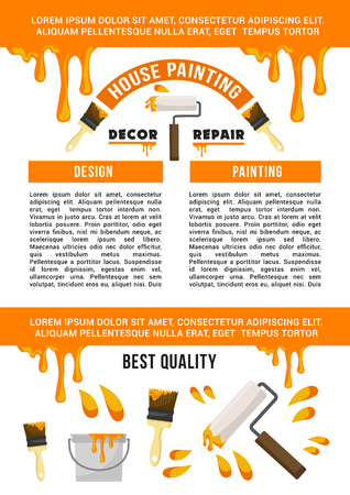 Home repair and painting service banner template