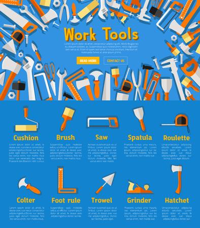 alicates: Cartel de herramientas de trabajo para el diseño de la ferretería