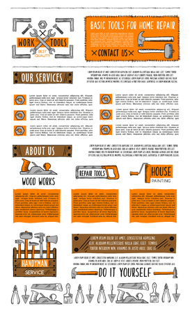 Home repair service landing page template