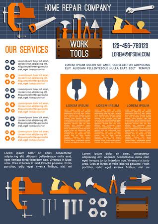 Huisreparatie en bouwbedrijfsbanner