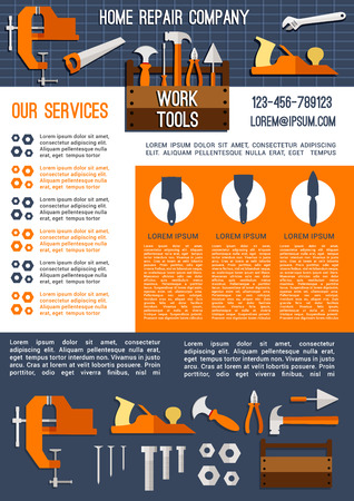 House repair and construction company banner