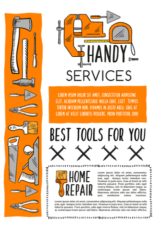 hardware: House repair tool and carpentry equipment poster