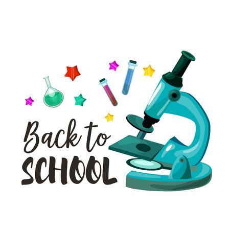 Terug naar school vector chemie les poster