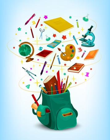 Affiche de sac à dos de toile de retour à l'école Banque d'images - 84775411