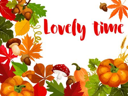 Herbst-Naturplakat für Erntedank-Tagesentwurf Standard-Bild - 84775427