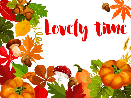 Autumn nature poster for Thanksgiving Day design