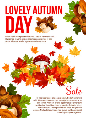 Autumn sale promotion banner template design