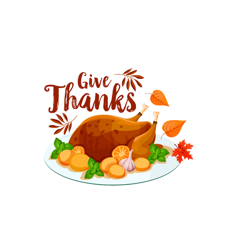 Thanksgiving turkey isolated icon.