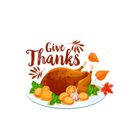 感謝祭トルコ分離アイコン。