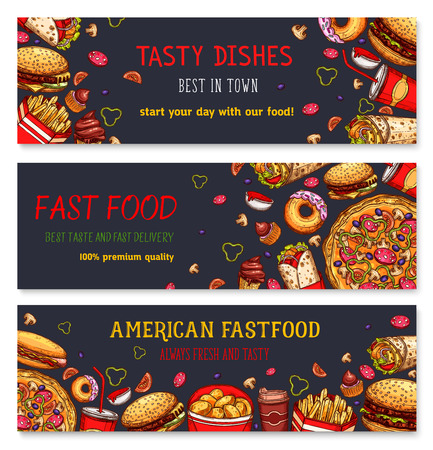 Banners for fast food restaurant