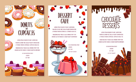 Poster template for bakery shop desserts