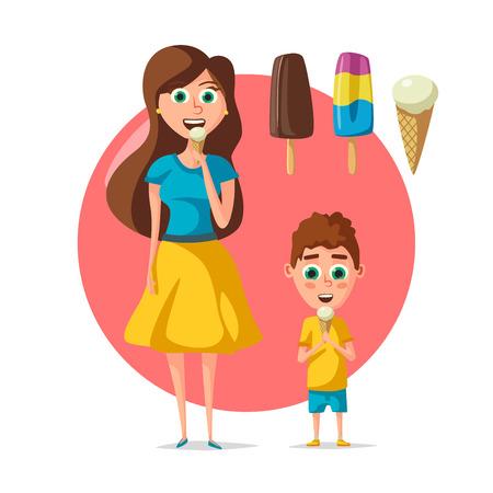 People eating ice cream