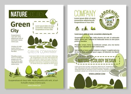 自然環境の園芸のためのベクトル パンフレット