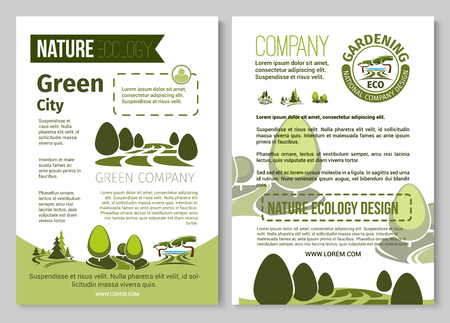 Vector brochure for nature eco gardening