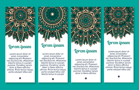 Vector banners floral Paisley or Mandala pattern