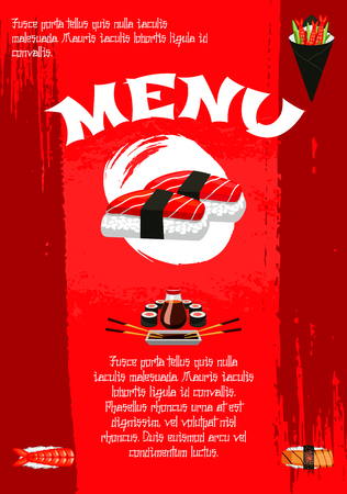 Vector poster for Japanese sushi restaurant