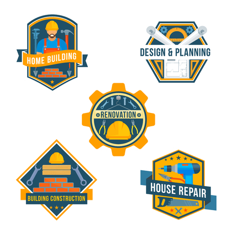 work tools vector icons for house repair design vector - Home Building Tools