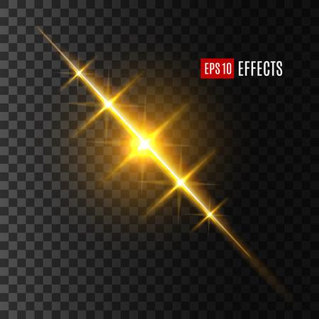 Light flash or sun and star shine effect