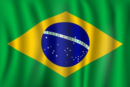 Vector flag of Brazil. Brazilian national symbol