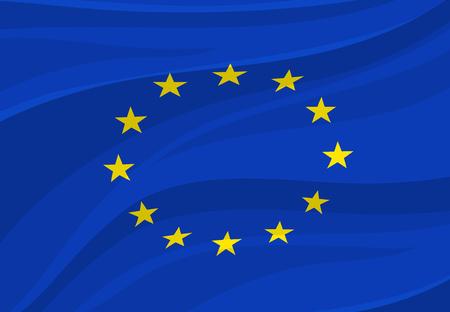 Vlag van de Europese Unie Vector Europa nationaal symbool Stock Illustratie
