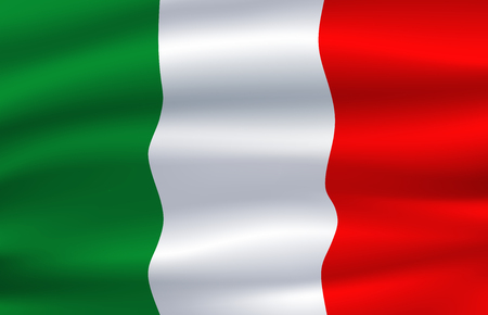 Italy flag. Vector Italian national symbol
