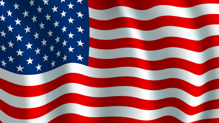 Vector flag of USA. American national symbol Imagens - 85407125