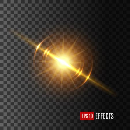 Lichtblitz oder Sonnenscheineffektvektorikone Standard-Bild - 85336048