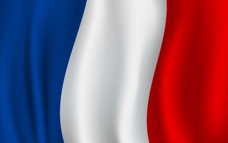 Vector vlag van Frankrijk. Frans nationaal symbool