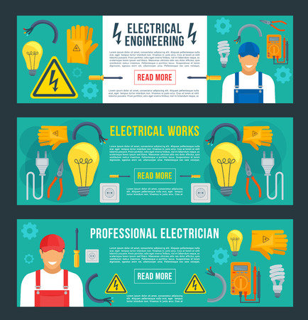 Vector banners for electrical engineering