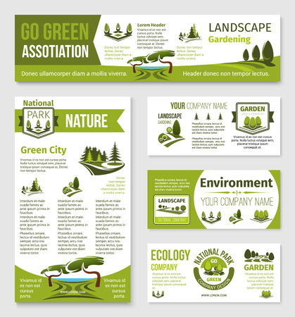 Vector templates for green eco environment company Illustration