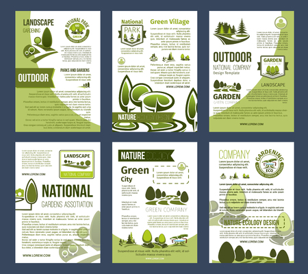 Ecology posters set for environment design Stock Illustratie